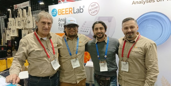 CDR BeerLab and Quartz Analytics Team at CBC Booth. Photo2