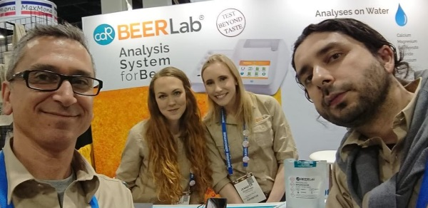 CDR BeerLab and Quartz Analytics Team at CBC Booth