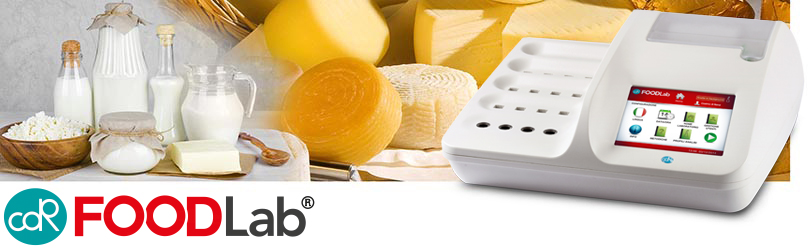 The chemical analysis of the milk and dairy products for quality control for every stage of the production chain with CDR FoodLab