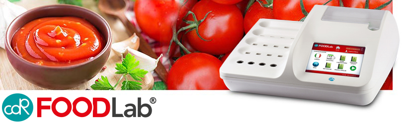 Quality control on tomato and tomato products with CDR FoodLab