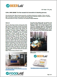 CNR study for innovation of brewing process with CDR BeerLab