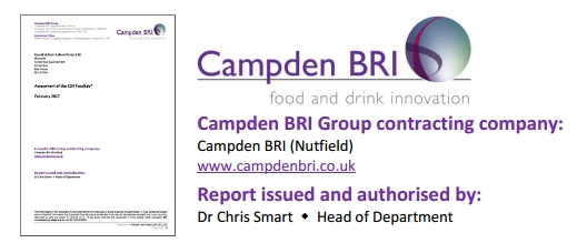 CampdenBRI: Comparison study between CDR FoodLab analytics methods and reference methods for Oil and Fats testing