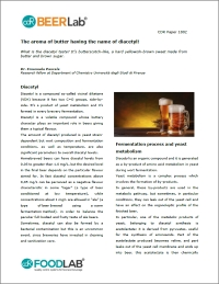 "Check out the key points about Diacetyl and VDKs in brewing process, download the paper: ""The aroma of butter having the name of diacetyl!"""