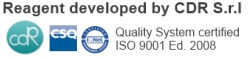 Reagent developed by CDR S.r.l - ISO 9001 certified company
