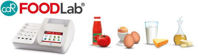 CDR FoodLab<sup>®</sup> configurable for analysis of foods: oils and fats, eggs and egg products, milk and dairy products, tomato and derivatives
