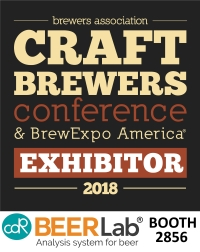 CDR BeerLab system for chemical analysis in beer at craft brewers conference 2018