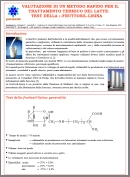 Milk Thermal processes: the study