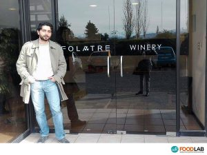 Dr. Simone Bellassai, specialist of the chemical analysis of the wine, at the winery Folatre - CDR WineLab in Chile