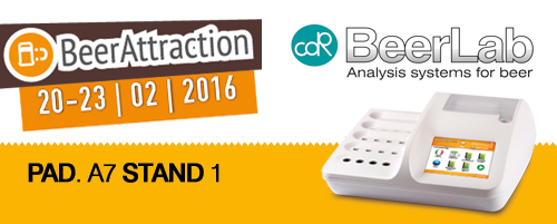 CDRBeerLab. beer analyisis system, at Beer Attraction 2016 Rimini Italy