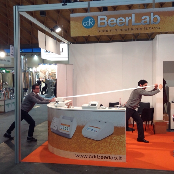 All the analyses performed as demos with CDR BeerLab<sup>®</sup>, during one day in fair