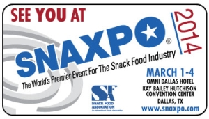 Snaxpo 2014 gathers the international snack food industry in Dallas: CDR FoodLab will be there
