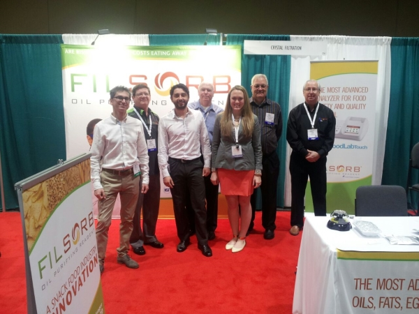 CDR and Crystal Filtration teams at the booth