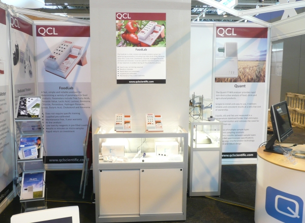 CDR FoodLab and CDR Winelab in the QCL's stand at Foodex 2014