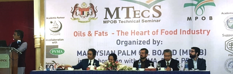 "MPOB Technical Seminar (MTecS) on Oils & Fats – The Heart of Food Industry"" the 25th October 2018 in Karachi, Pakistan. The seminar by Malaysian Palm Oil Board"