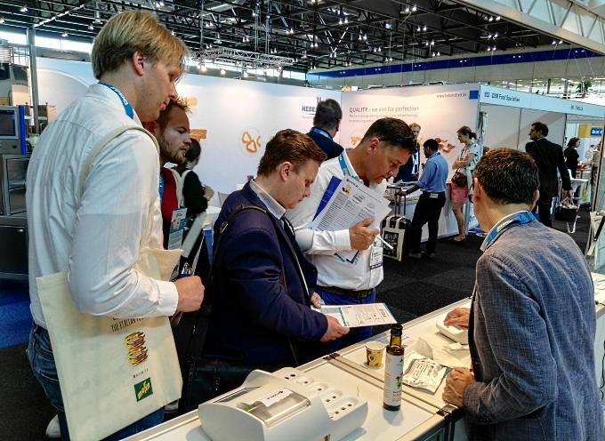 CDR FoodLab booth at snackex  2017: international event for the savoury snacks and snack nut