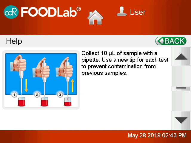 CDR FoodLab Systems Help Function