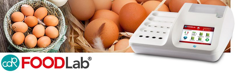 Simple chemical analysis of egg products and eggs thanks to CDR FoodLab with very easy and quick sample preparation