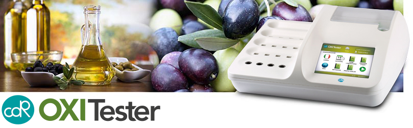 CDR OxiTester: the fast, simple and reliable olive oil testing system, to be used directly at the oil mill, in the oil processing plant or at the time of purchase
