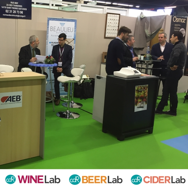 Beverage analysis systems of CDR FoodLab range at Sival 2017 with AEB distributors - France
