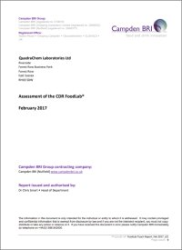 Comparison study between CDR FoodLab<sup>&reg;</sup> for oils and fats analytics methods and reference methods made by Campden BRI