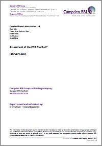 Comparison study between CDR FoodLab® for oils and fats analytics methods and reference methods made by Campden BRI