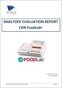 Download the evaluation study of the CDR FoodLab® instrument on important parameters of quality control in the dairy sector such as: ammonia on serum, urea on milk and lactose on lactose-free milk made by ACTALIA
