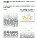 CDR FoodLab® method for the determination of Lactose content in lactose-free dairy products
