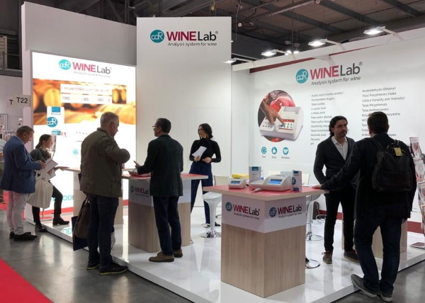 At CDR WineLab® Booth during SIMEI Exhibition