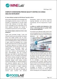Download the article Complete control of vinification in a single analysis instrument